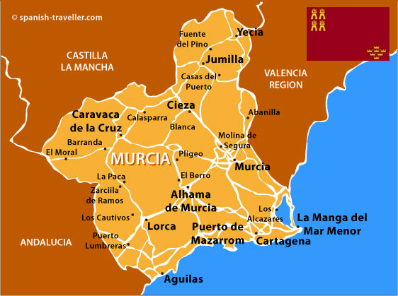 murcia travel guide to murcia region in spain. Black Bedroom Furniture Sets. Home Design Ideas