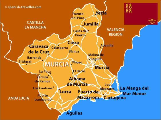 murcia travel guide to murcia region in spain. Black Bedroom Furniture Sets. Home Design Ideas