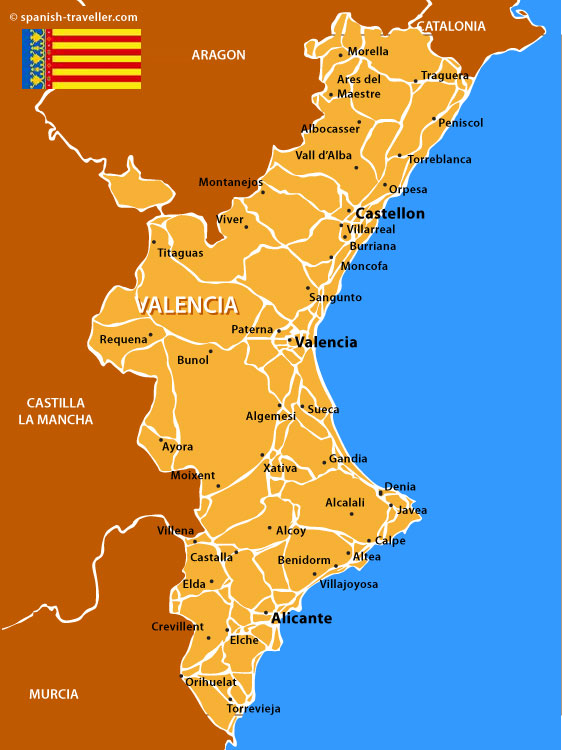 Map of Valencian Community