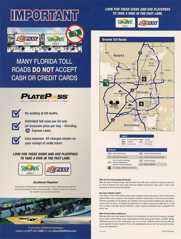 orlando toll roads florida