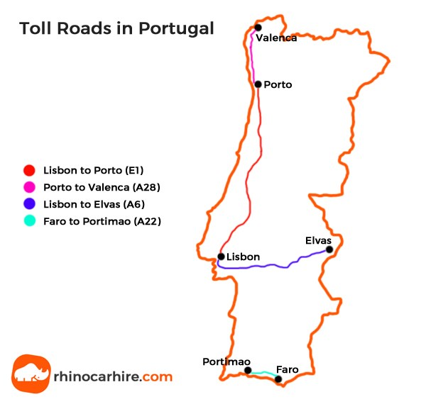 Portuguese Toll Roads A Guide To Toll Roads In Portugal - Portugal motorway map