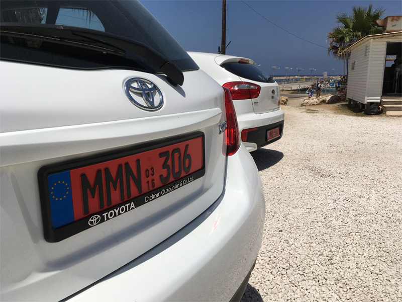 red number plate cyprus