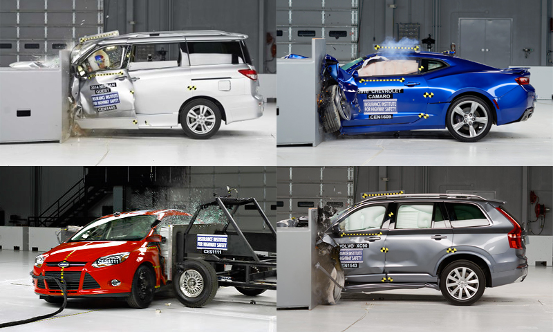 IIHS crash test rental car