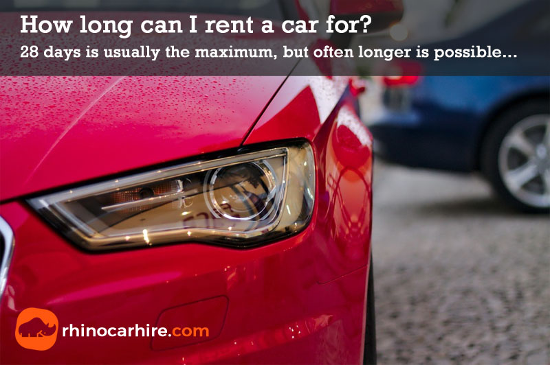 how long can I rent a car for
