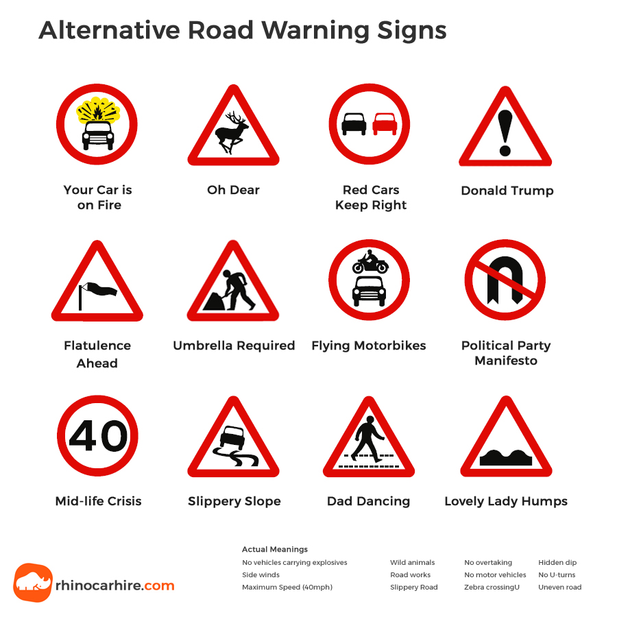 Triangle Road Signs >> Uk Road Signs Do You Know Your Uk Traffic Signs Rhinocarhire Com