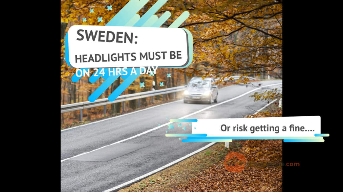 Headlights must be on 24hr in Sweden