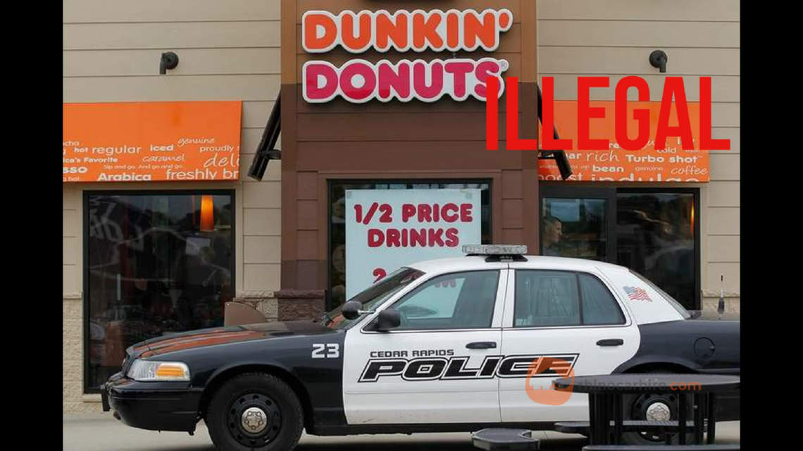 Parking in front of Dunkin Donuts illegal in California