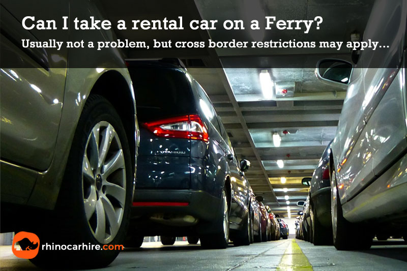rental car on ferry