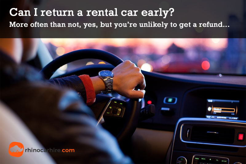 return car rental early