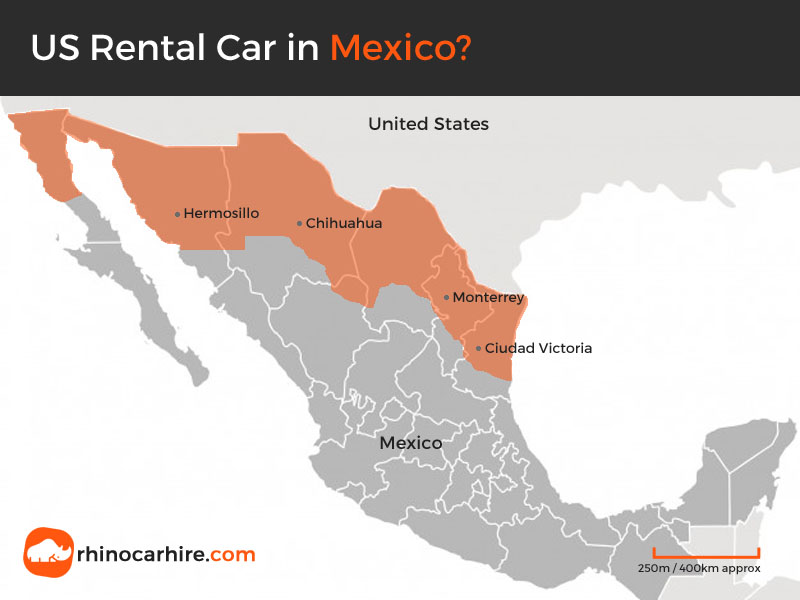 US rental car in Mexico