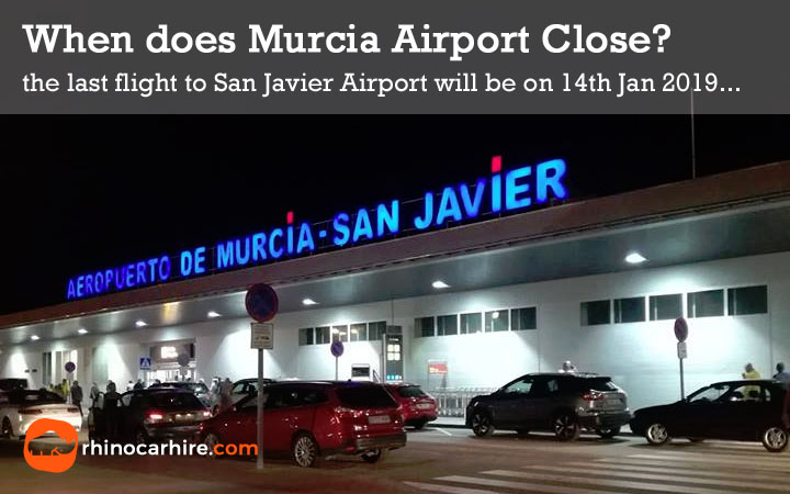 when does murcia airport close