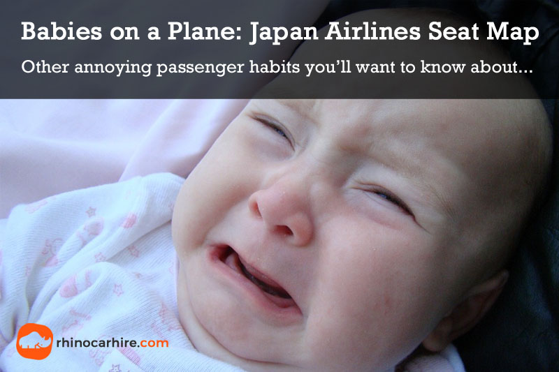 Babies on a plane Japan Airlines seat map