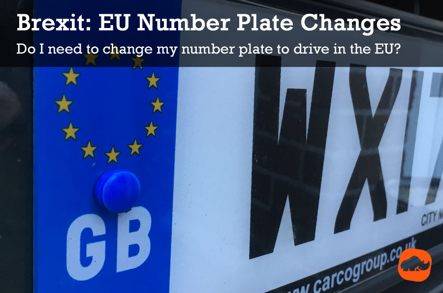 brexit number plate change