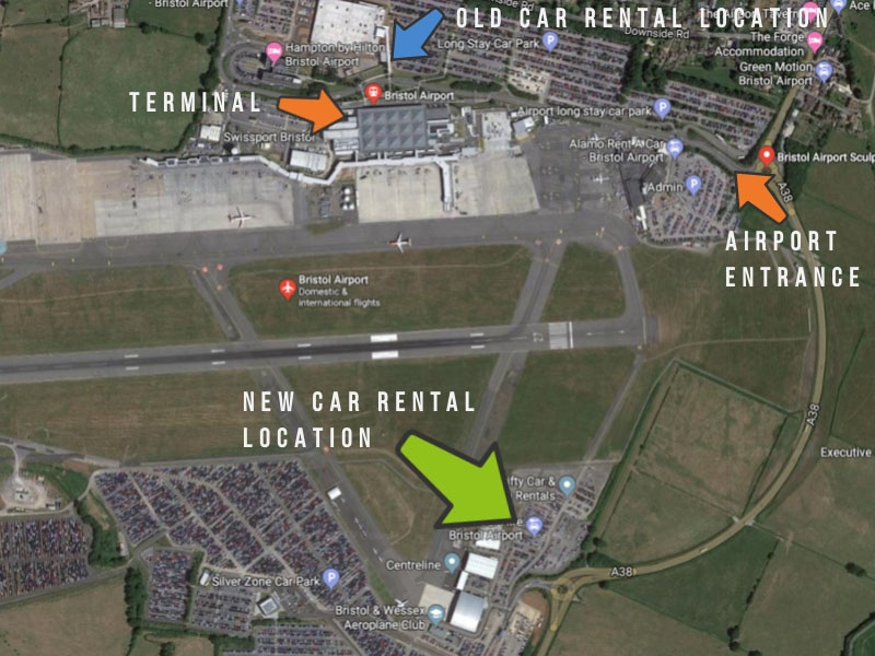 Bristol Airport Car Hire Moved