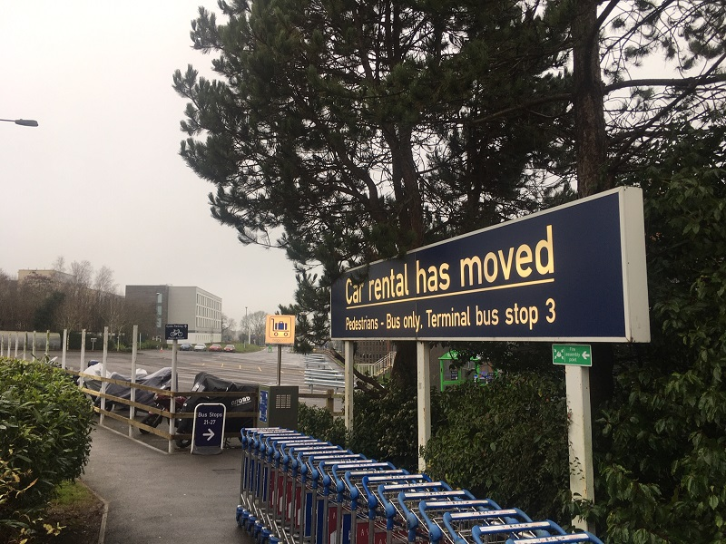 Bristol Airport Car Rental Moved