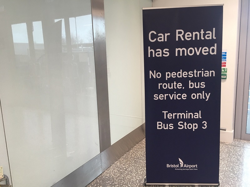 Car Rental Moved Bristol Airport