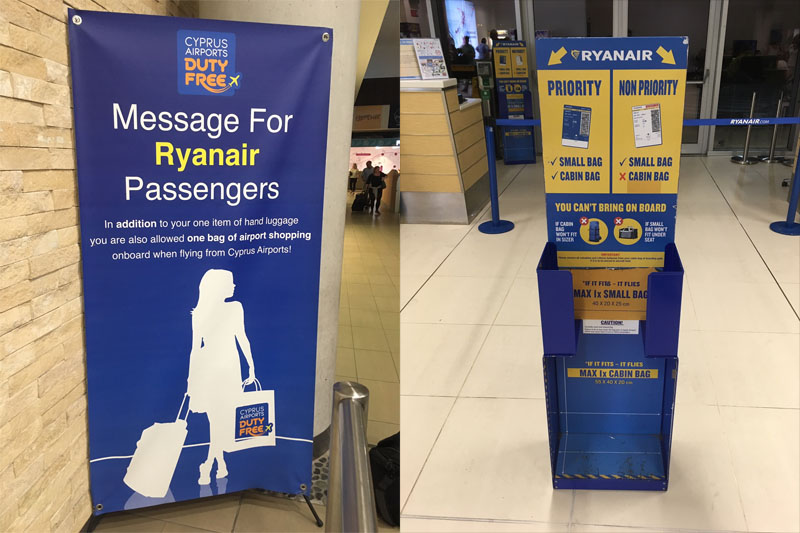 ryanair hand luggage shopping bag