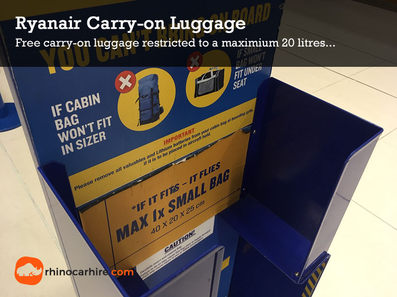 Ryanair luggage size personal item
