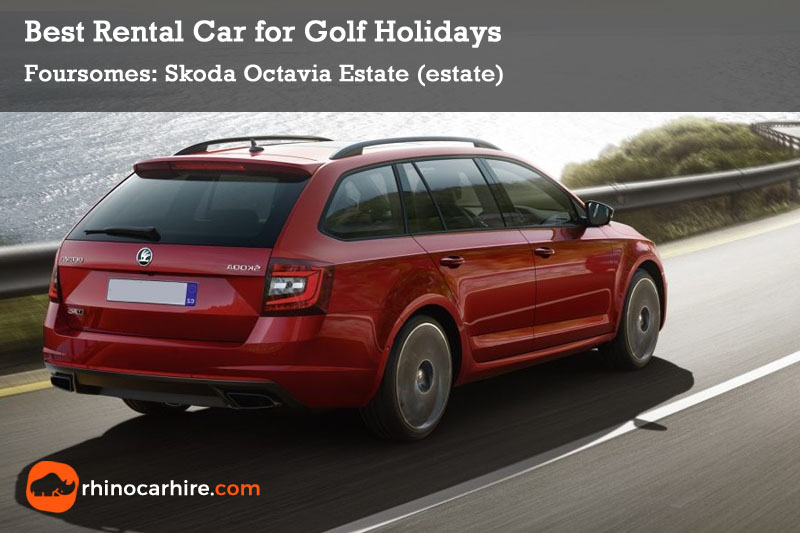 best rental car golf holiday skoda octavia