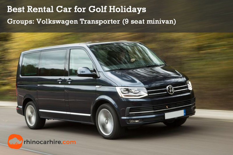 best rental car golf holiday volkswagen transporter