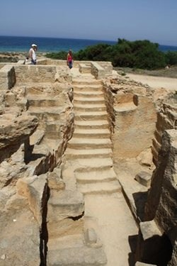 Stone Steps - Tomb of the Kings, Paphos , Cyprus