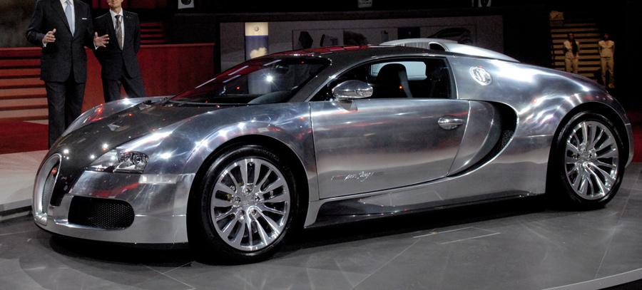 Pink Bugatti Car