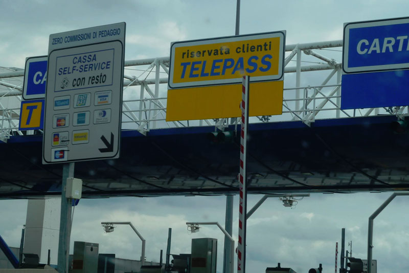 toll roads in italy