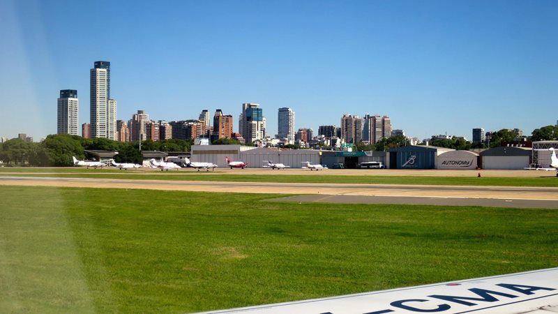 Buenos Aires Newbery Airport Palermo view