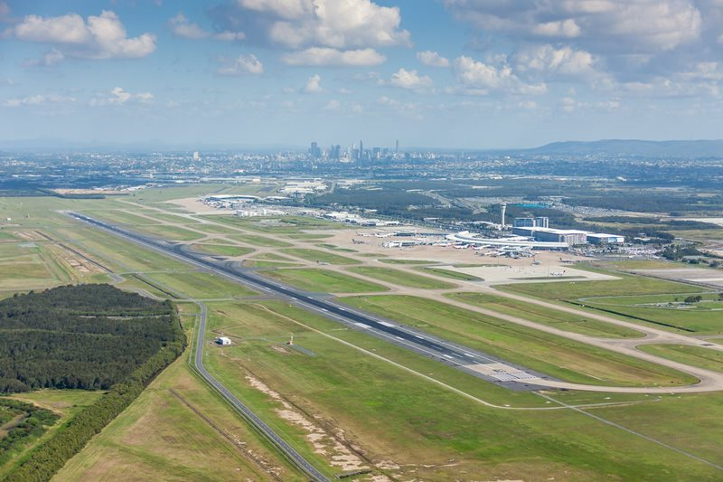 Aerial View Of Brisbane Airport