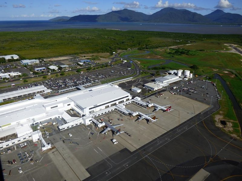 Aerial View Cairns Airport