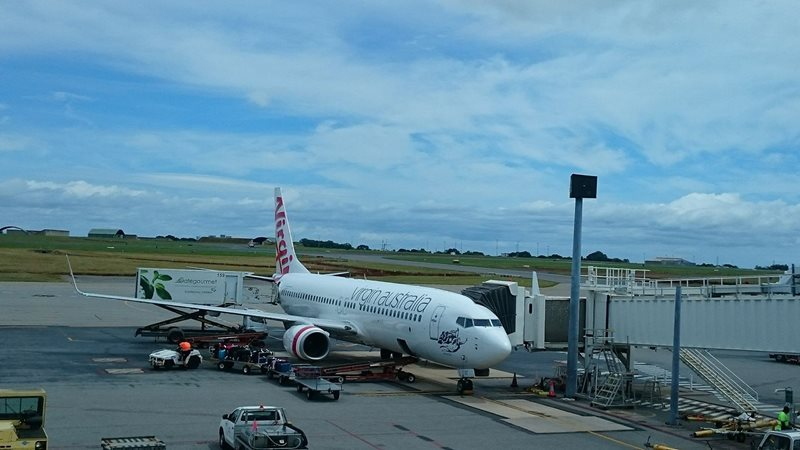 Virgin Australia Airplane at Darwin Airport