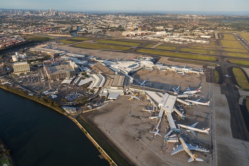 Sydney Airport Aerial View
