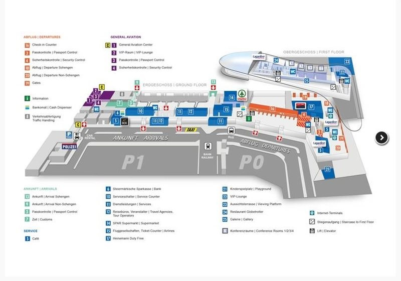 Graz Airport Terminal Map