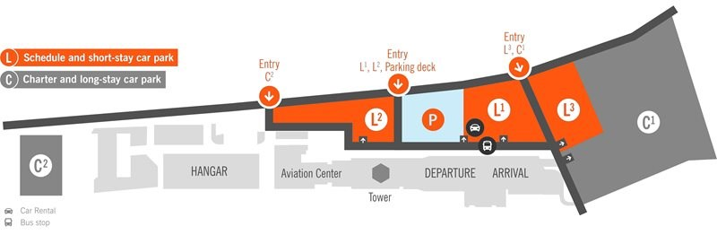 Linz Airport Terminal Parking Map