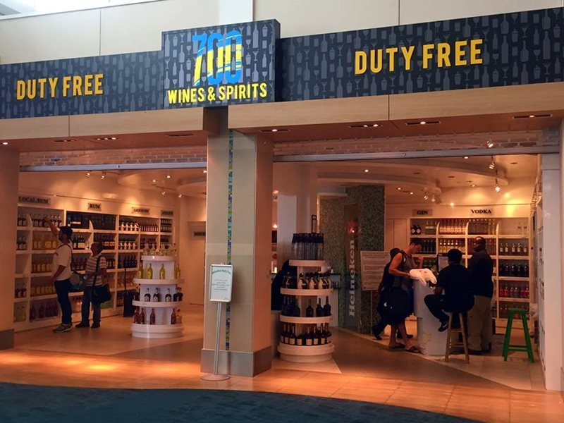 Duty Free Shop at Nassau Airport