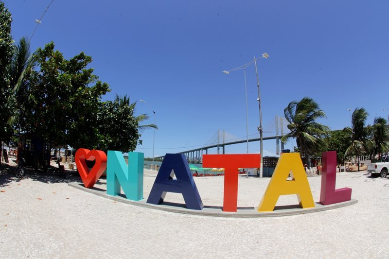 Natal Sign on Beach