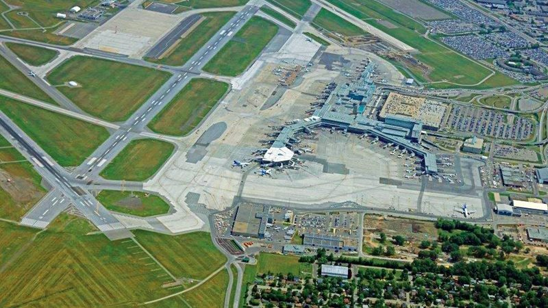 Aerial View of Montreal Airport