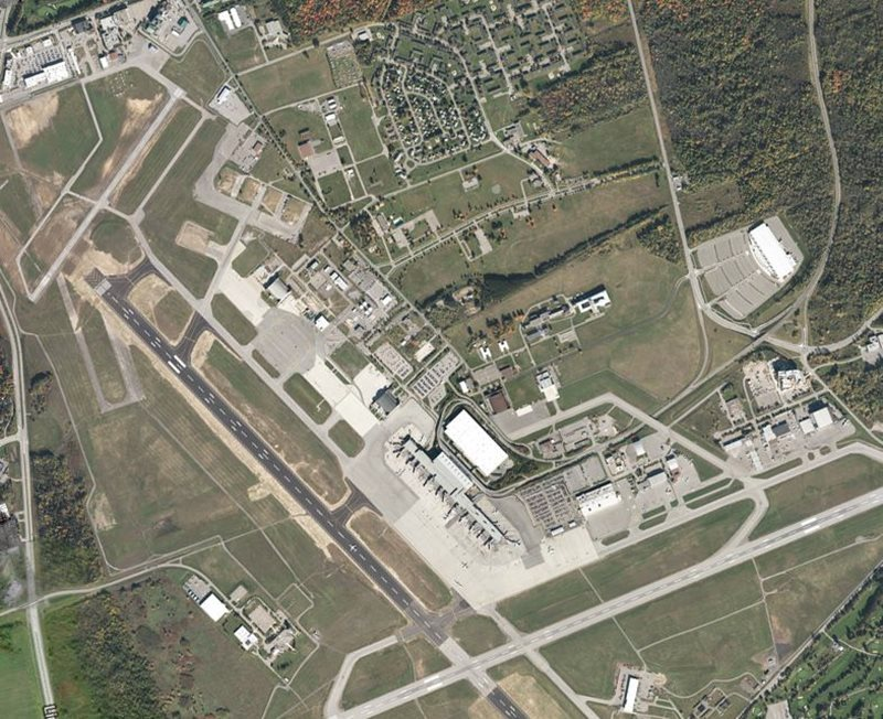 Aerial View of Ottawa Airport