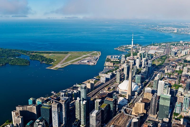 Aerial View of Toronto City Airport