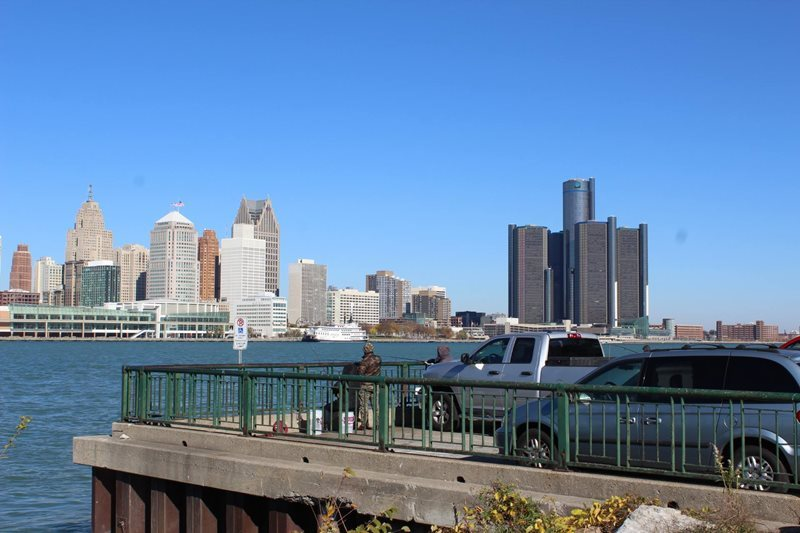 View of Detroit US from Windsor