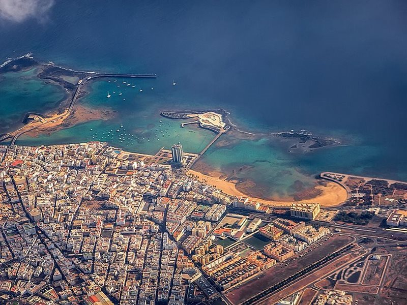 aerial view of arrecife lanzarote
