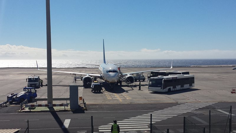 plane at tenerife south airport