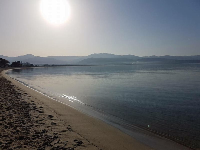 view of Ajaccio beach
