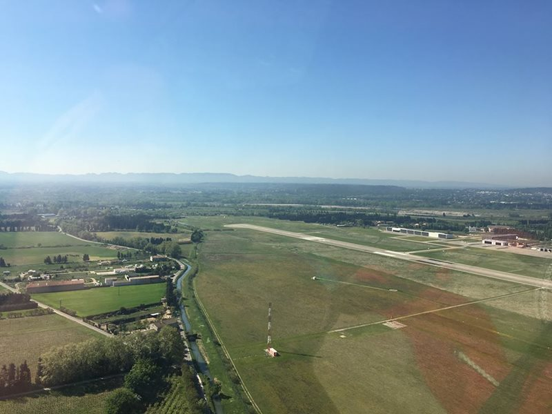 aerial view of avignon airport