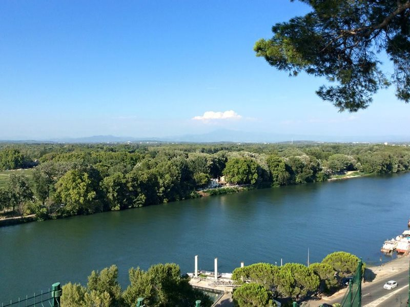 view from the rocher des domes in avignon