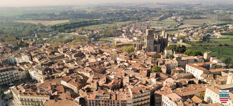 aerial view of beziers