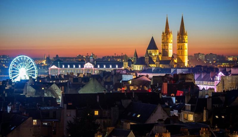 caen view at night