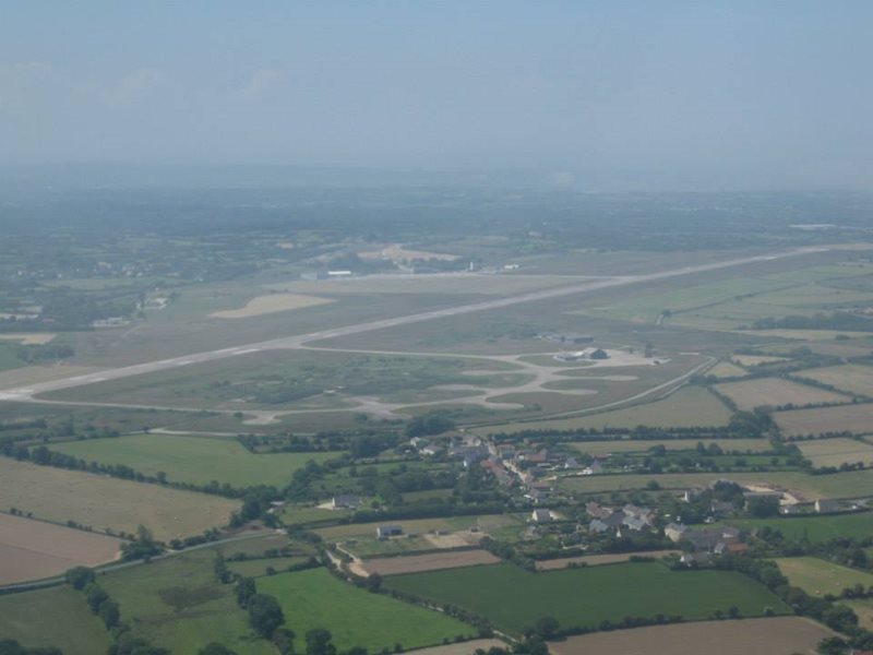 aerial view of cherbourg airport