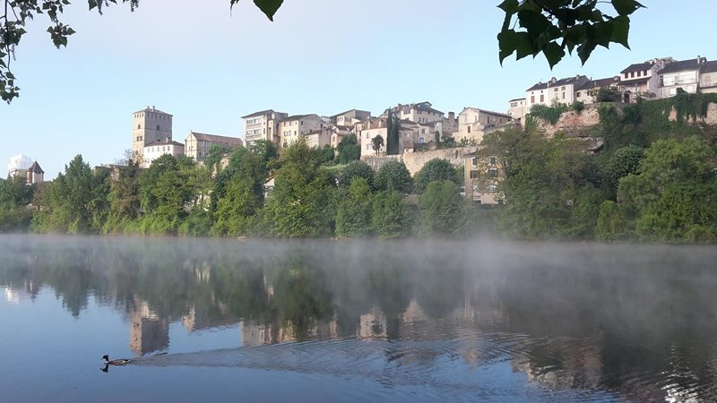 view of cahors from river