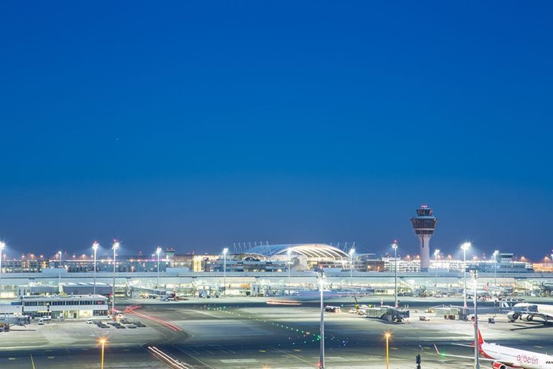 Munich Airport at night